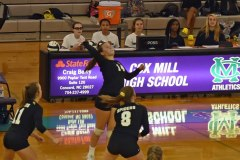 Concord High vs Cox Mill High Womens Volleyball 2019
